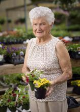 Bobbie Beard, former owner of The Flower Center in Vicksburg, began the successful horticulture business in her backyard 30 years ago. Her son and daughter-in-law now own the nursery. (Photo by MSU Extension Service/Kevin Hudson)