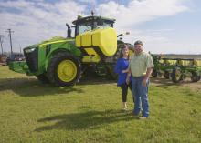 Molly and Brad Judson of Clay County are one of four couples who recently earned the National Outstanding Young Farmers award. They were nominated by their Mississippi State University Extension Service agent for the recognition from the National Association of County Agricultural Agents. (Photo by MSU Extension Service/Linda Breazeale)