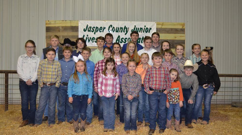 County livestock show participants