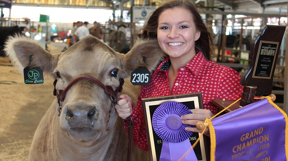 Lacie Livestock show winner