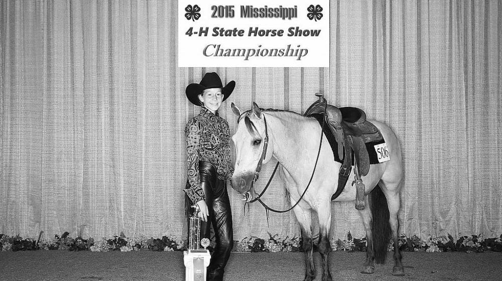 2015 4-H Horse show winner.