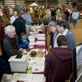 Large crowds took part in the 2010 Everything Garden Expo. Many participants stopped by the information booth staffed by Mississippi State University's Extension Service. (Photo by Scott Corey)
