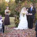 Natural materials , such as autumn leaves and leafy branches, are an inexpensive and environmentally friendly way to decorate for a wedding.