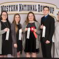 Chickasaw County 4-H members placed in the top 10 in consumer decision making at the Western National 4-H Roundup in Denver. Team members (from left) Shelby Abrams, Gracie Vickers, Lessie Vickers and Gage Vanlandingham earned sixth high point team overall, third high team overall, and eighth high team in overall reasons and overall group think. Vickers also placed second in individual high points. They are joined by Mississippi State Extension Service program associate Angie Abrams. (Submitted photo)