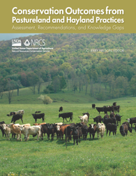 The cover of Conservation Outcomes from Pastureland and Hayland Practices magazine.