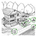 hand drawn illustration of house Water Health Thumbnail- Protecting water quality for