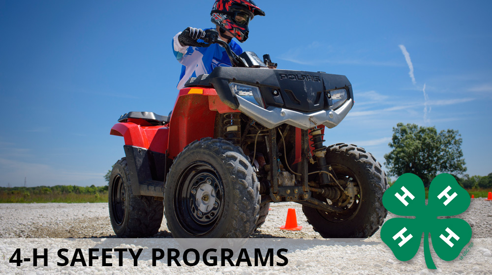 The 4-H Safety Program header shows an ATV with youth rider.