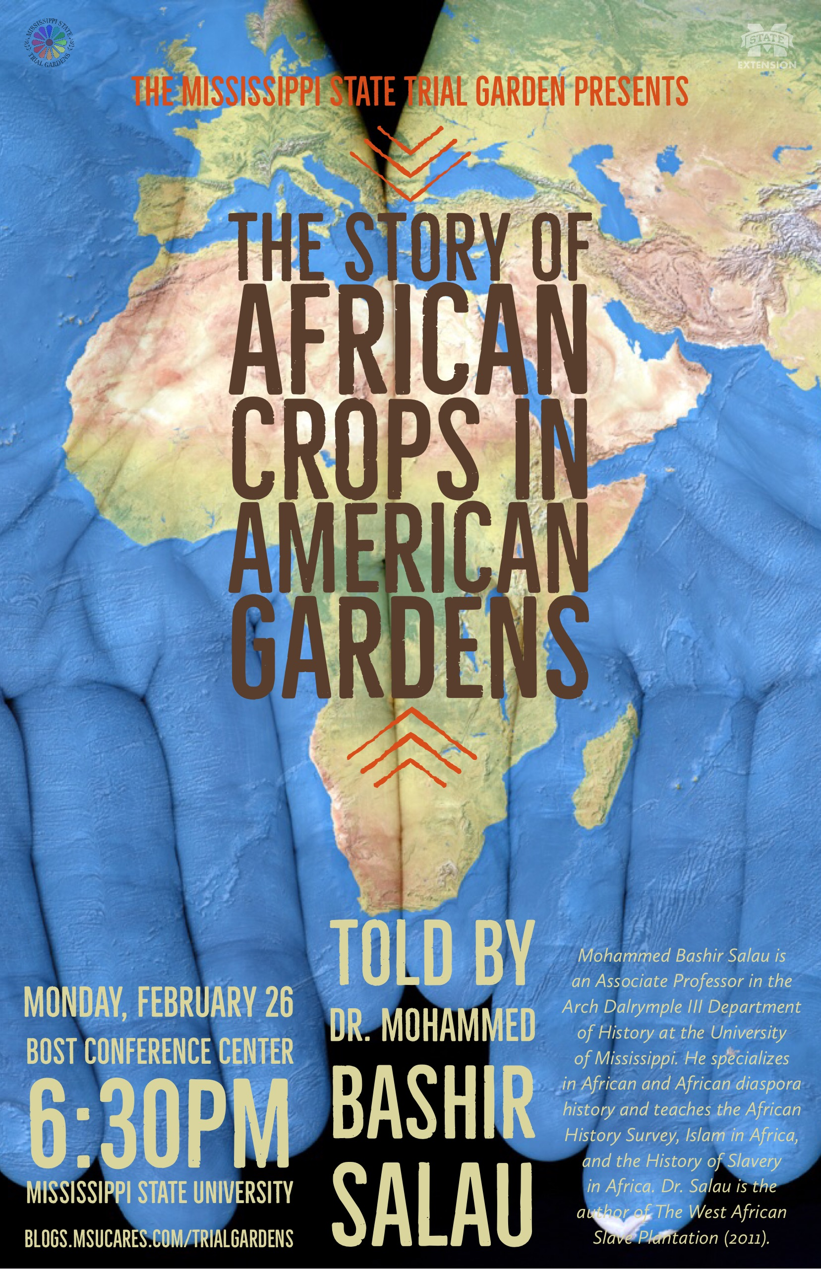 poster for The Story of African Crops in American Gardens.