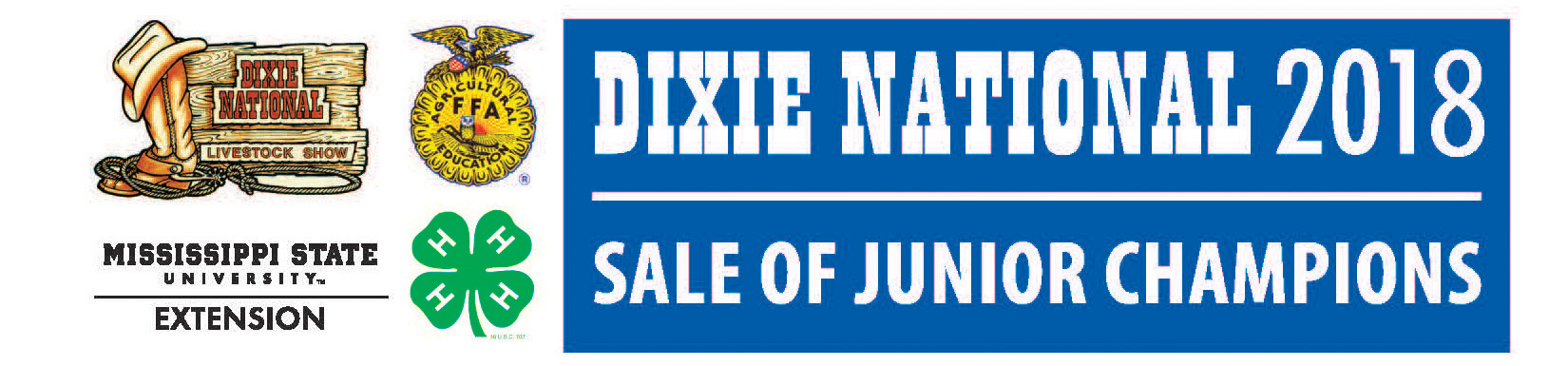 The Dixie National 2018 Sale of Junior Champions logo