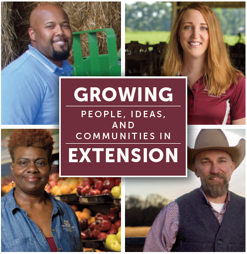 The front panel of Growing Extension brochure.