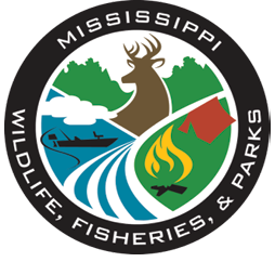 Mississippi Wildlife, Fisheries, and Parks Logo.