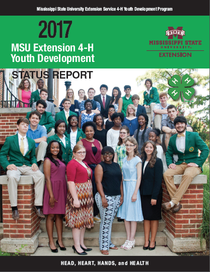 The cover of the 2017 MSU Extension 4-H Youth Development Status Report