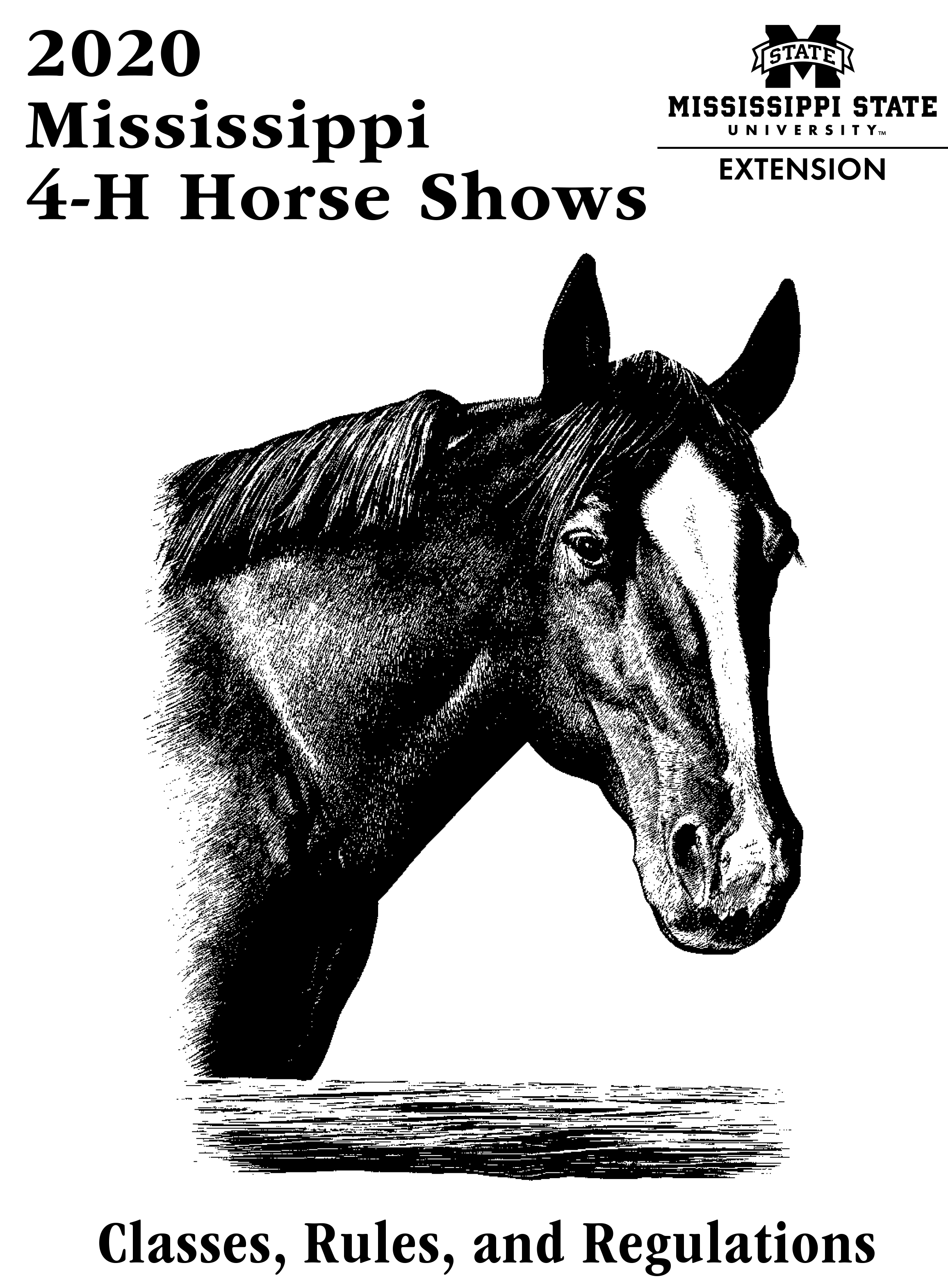 Cover of 2020 Mississippi 4-H Horse Shows: Classes, Rules, and Regulations book.