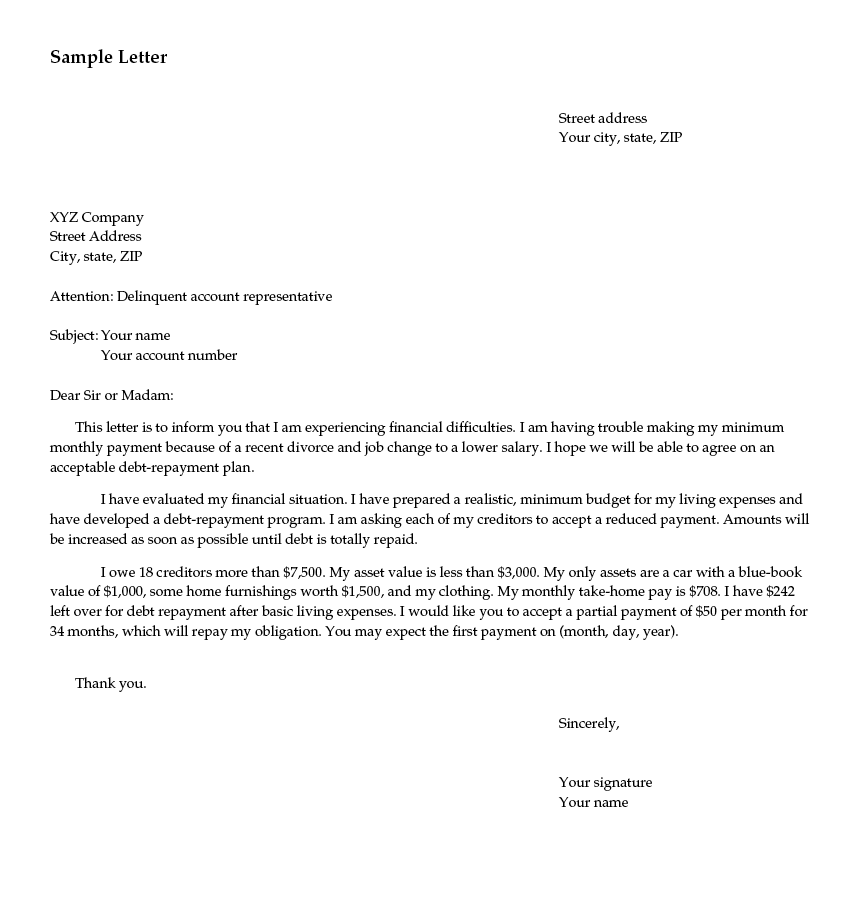 This is an example of a sample letter.
