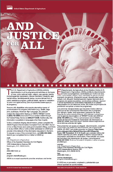"Image of the ""And Justice for All"" poster that is displayed in every Extension office."