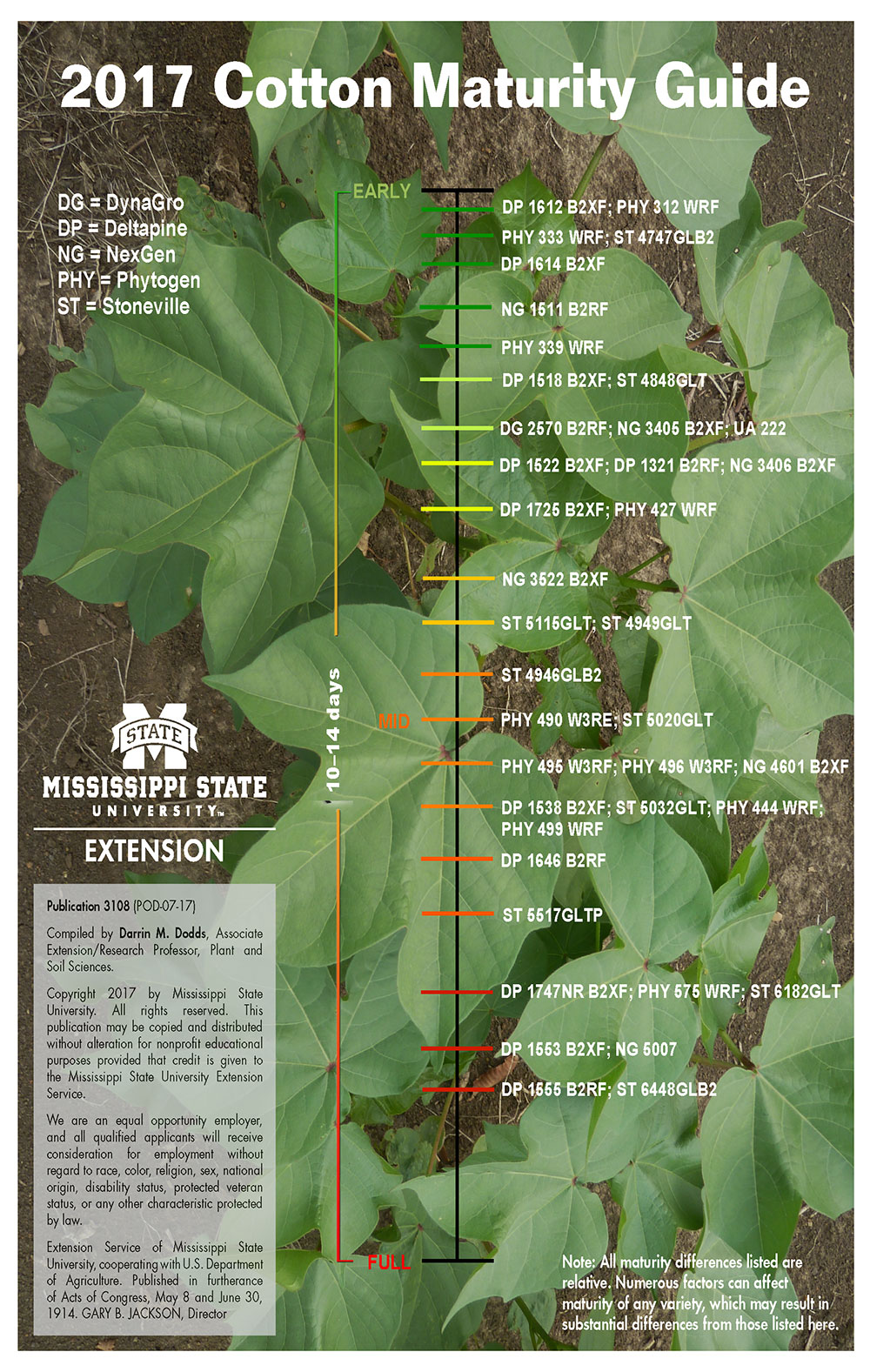 An image of the cotton maturity guide publication.