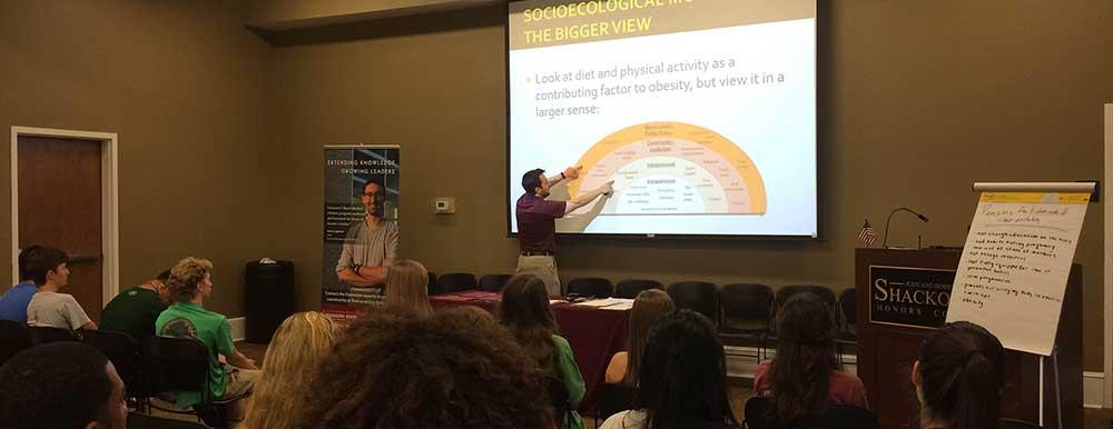 Dr. David Buys teaching.