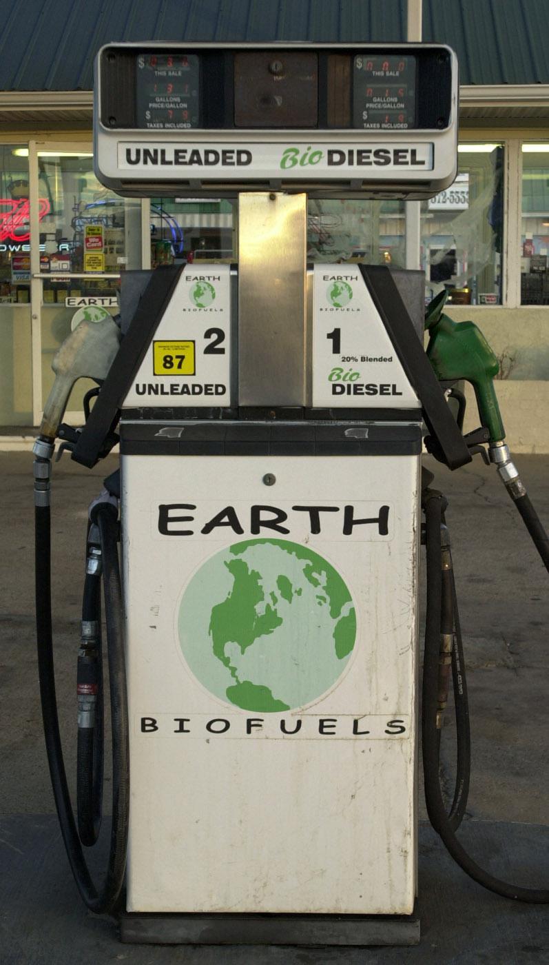 A biodiesel fuel pump.