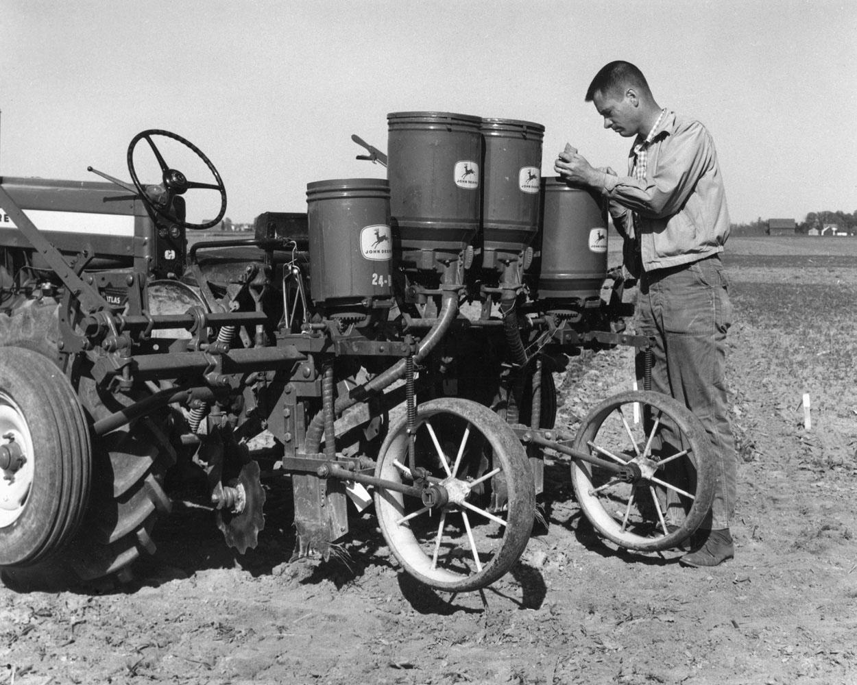In 1964, agronomist Glover Triplett was conducting pioneering research in no-till farming at Ohio State University. (Submitted Photo)