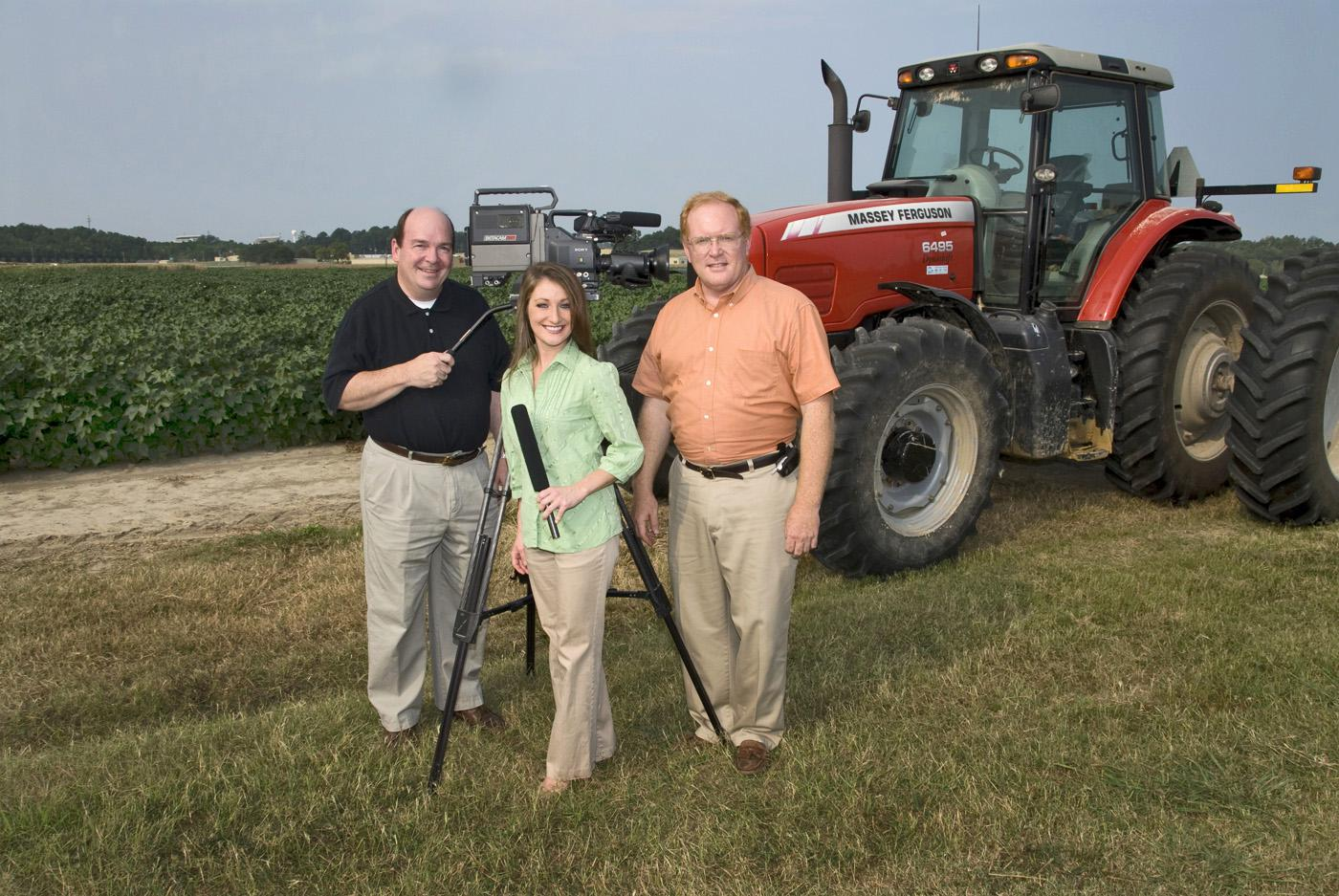 The current Farmweek team includes Leighton Spann, left, Amy Taylor and Artis Ford. (Photo by Marco Nicovich)