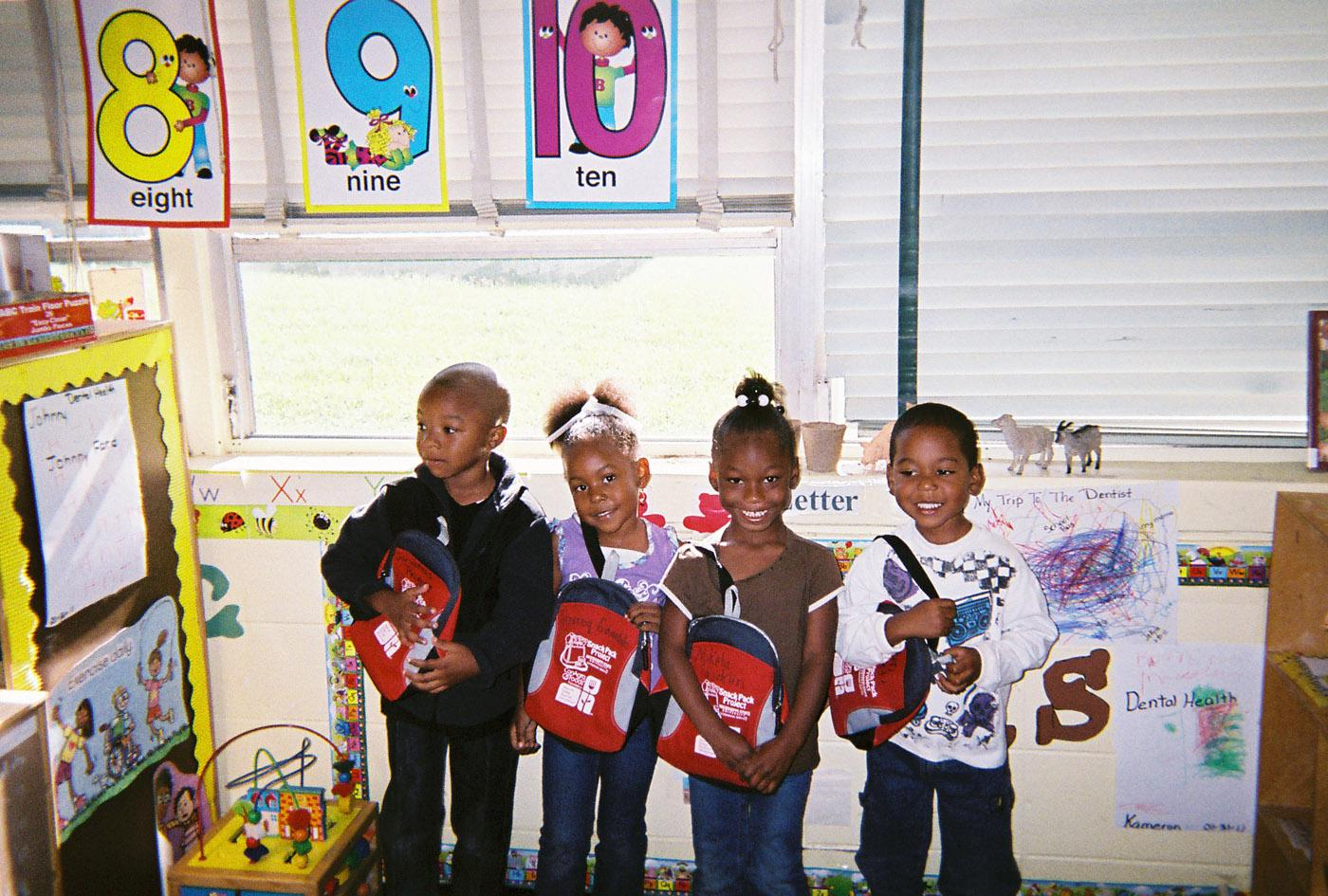 As part of the Snack Pack program, Head Start students were given a small backpack that contained a book, information sheet, and a healthy take-home snack. (Photo by MSU Department of Food Science, Nutrition and Health Promotion/Stacey Johnson Knepple)