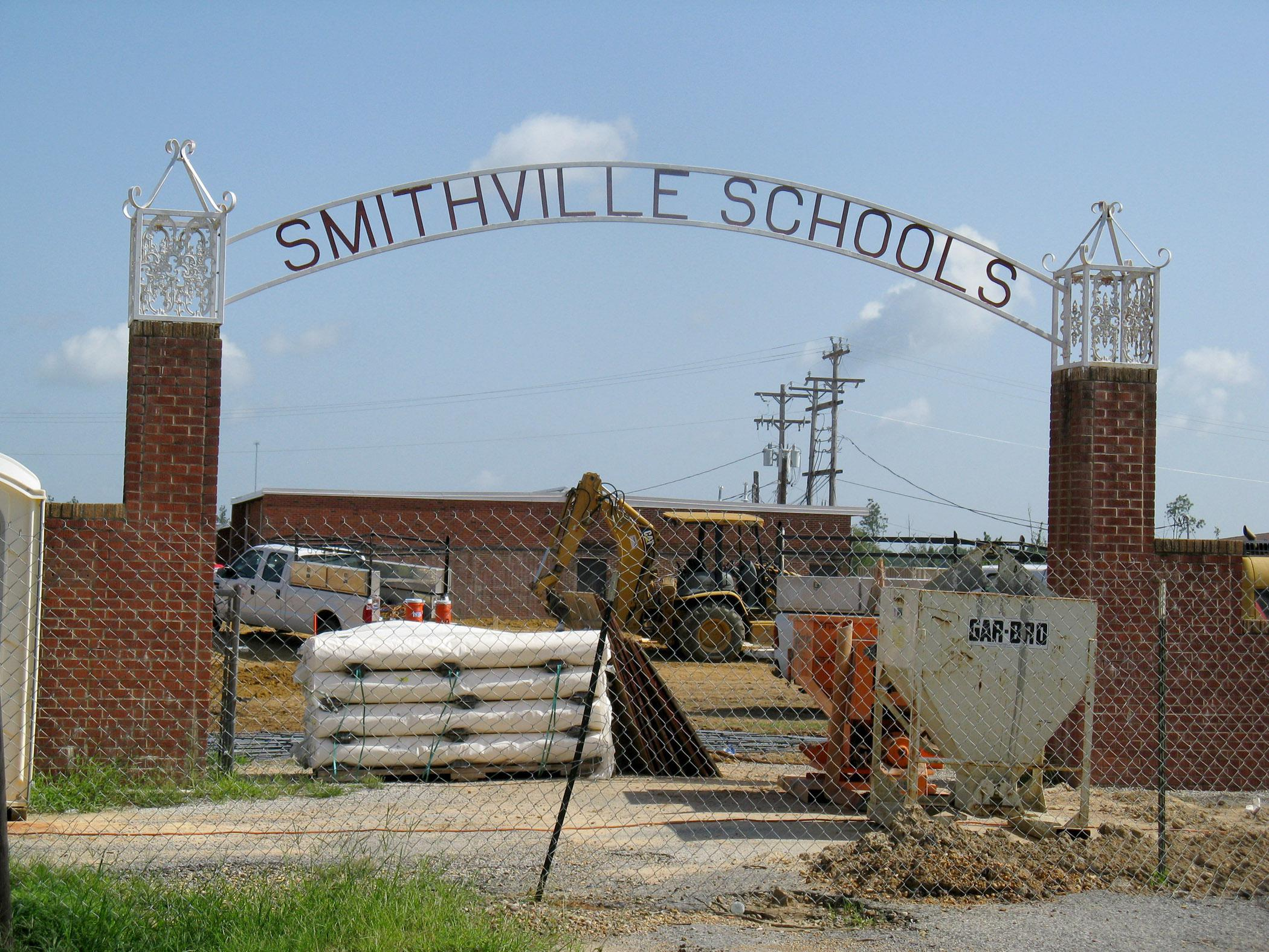 While Smithville Schools are under construction due to tornado damage, teachers hold classes in temporary buildings and use computers donated by several organizations, including the Mississippi State University Extension Service. School officials expect to move into the reconstructed school for the 2013-2014 school year. (Photo by MSU Extension Center for Technology Outreach/Bekah Sparks)