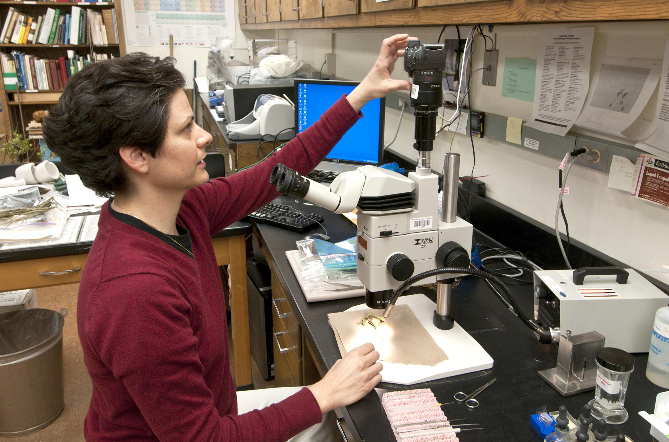 Curiosity led Clarissa Balbalian, the manager of Mississippi State University's plant diagnostic lab, into her career as a plant pathologist. (File photo by MSU Ag Communications/Scott Corey)
