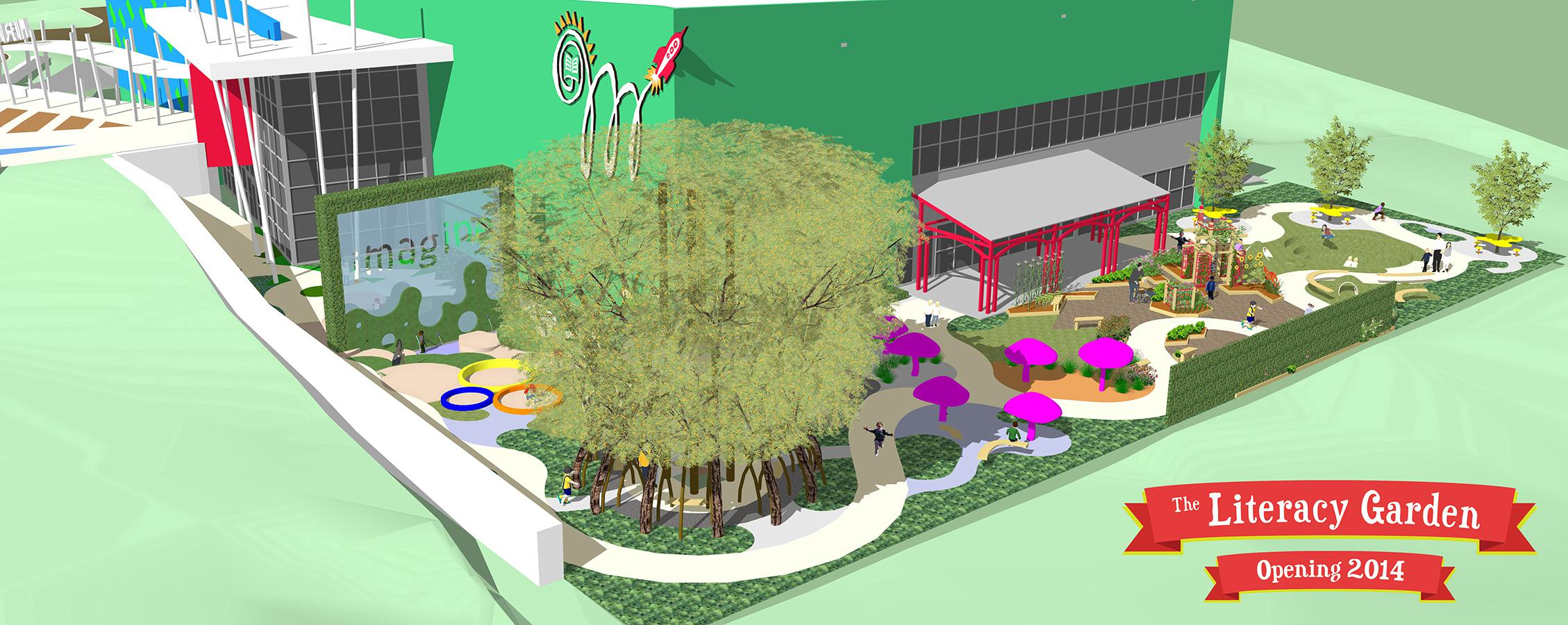 A high-tech, multi-sensory play space designed to encourage reading is scheduled to open in 2014 at the Mississippi Children's Museum in Jackson. The literacy garden will include native plants and reflect the various habitats found in Mississippi. (Photo courtesy of Mississippi Children's Museum)