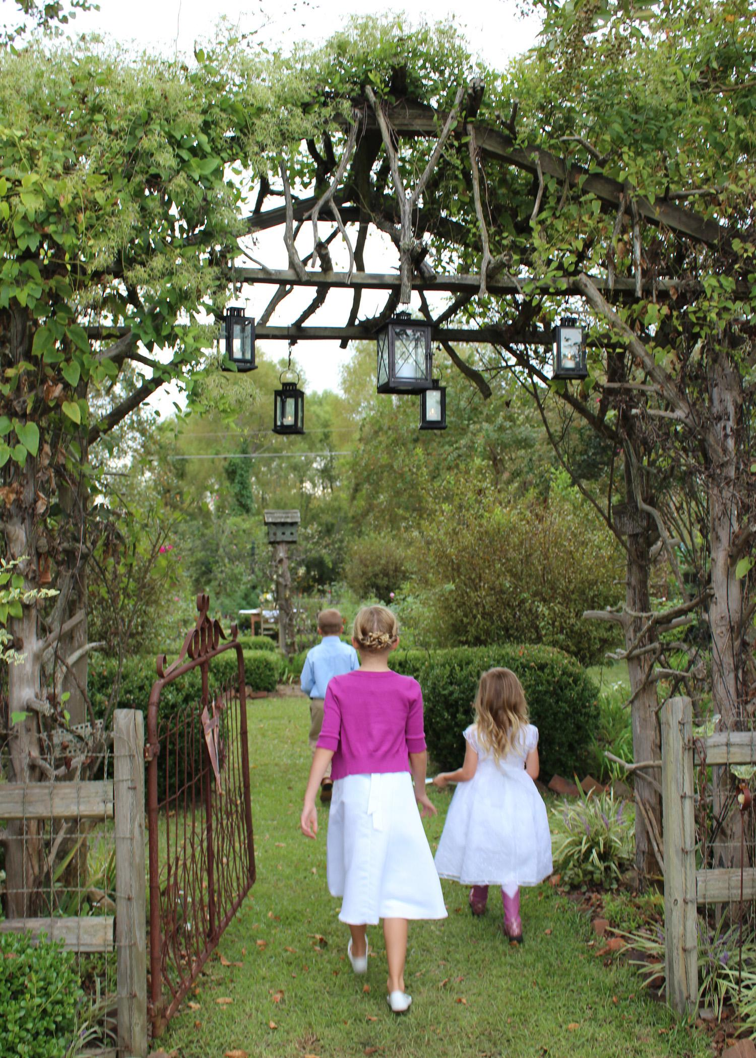 A garden wedding can be the perfect opportunity for homeowners to invest in permanent landscape structures, such as arched entryways. (Photo by MSU Ag Communications/ Keri Collins Lewis)