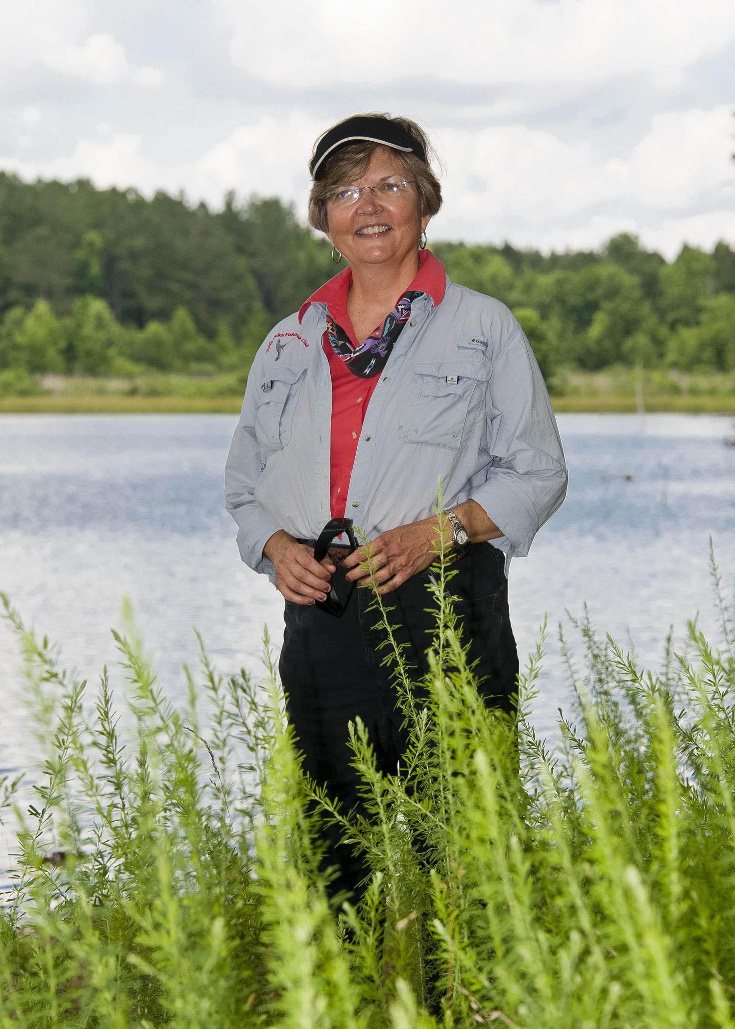 2014 Mississippi Forestry Association Tree Farmer of the Year Patrice O'Brien enjoys managing the land, timber and natural resources at her family's farm in Oakland, Miss., on June 13, 2014. (Photo by MSU Ag Communications/Kevin Hudson)