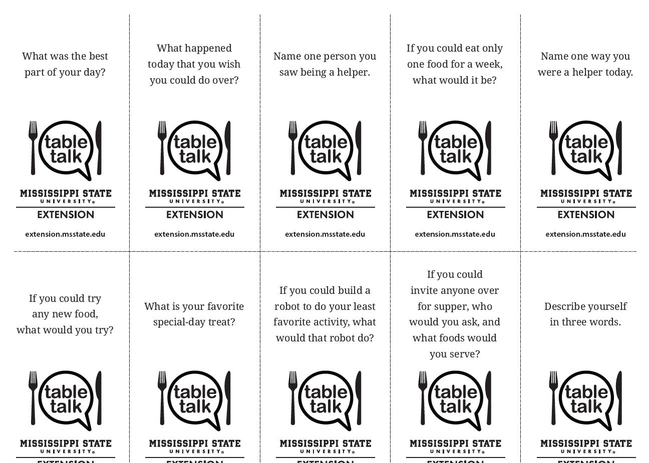 Conversation cards. Complete description in link.