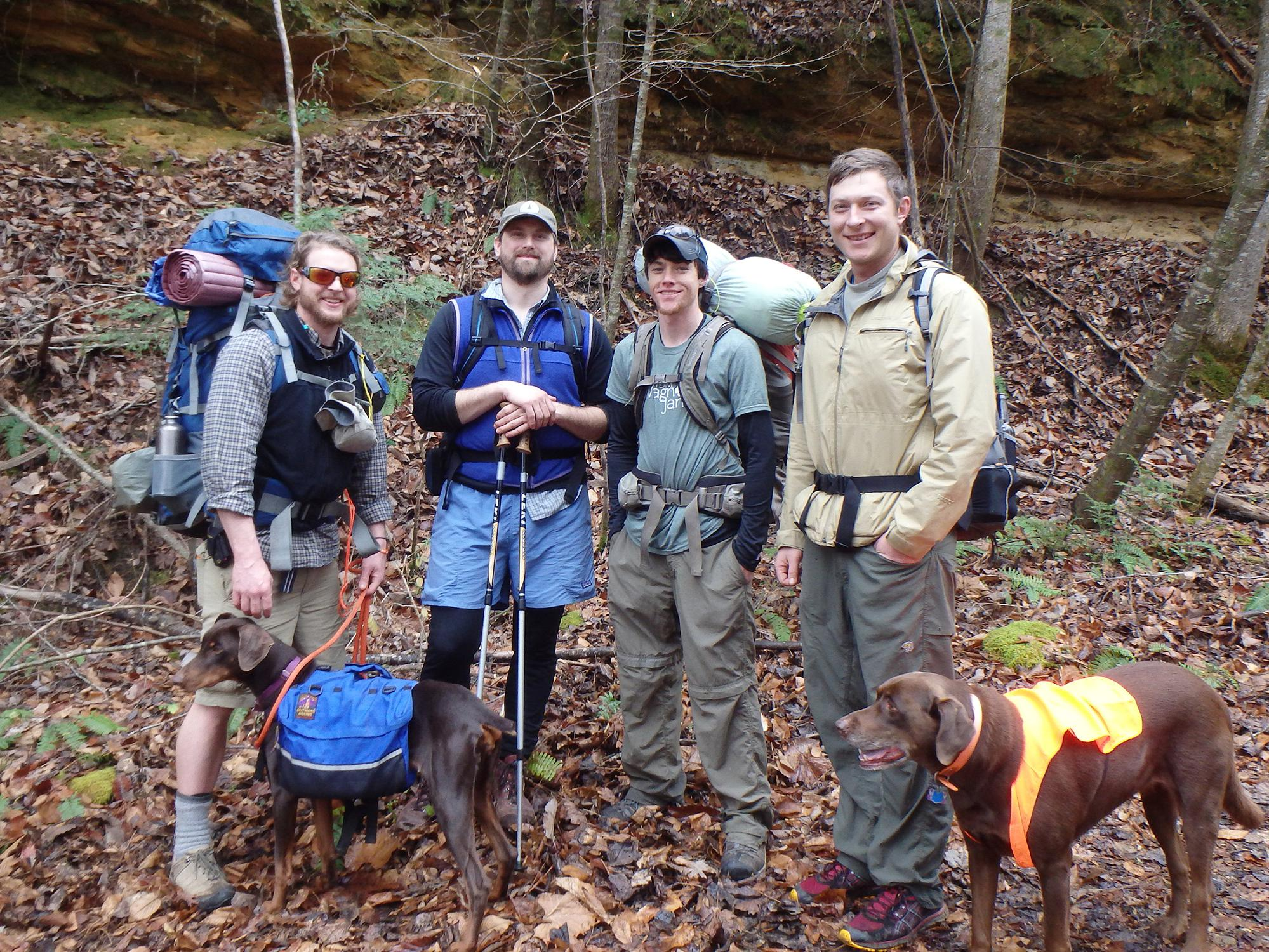 Don't let the colder weather prevent outdoor adventures this winter. This group is staying comfortable by layering their clothing. (Photo by MSU Extension Service/Evan O'Donnell)