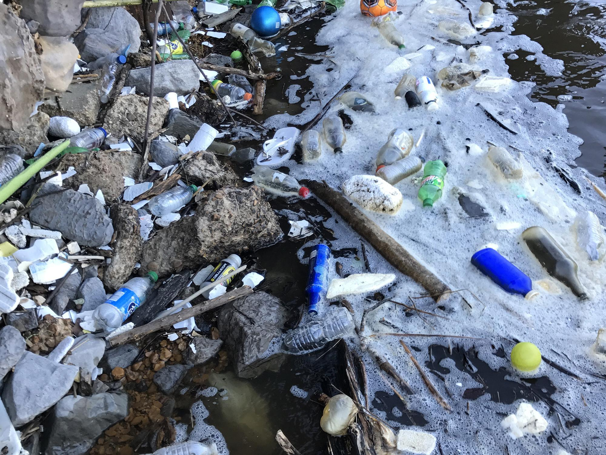 This is an example of trash found recently at a popular fishing area on the Pearl River. (Submitted photo/Abby Braman)