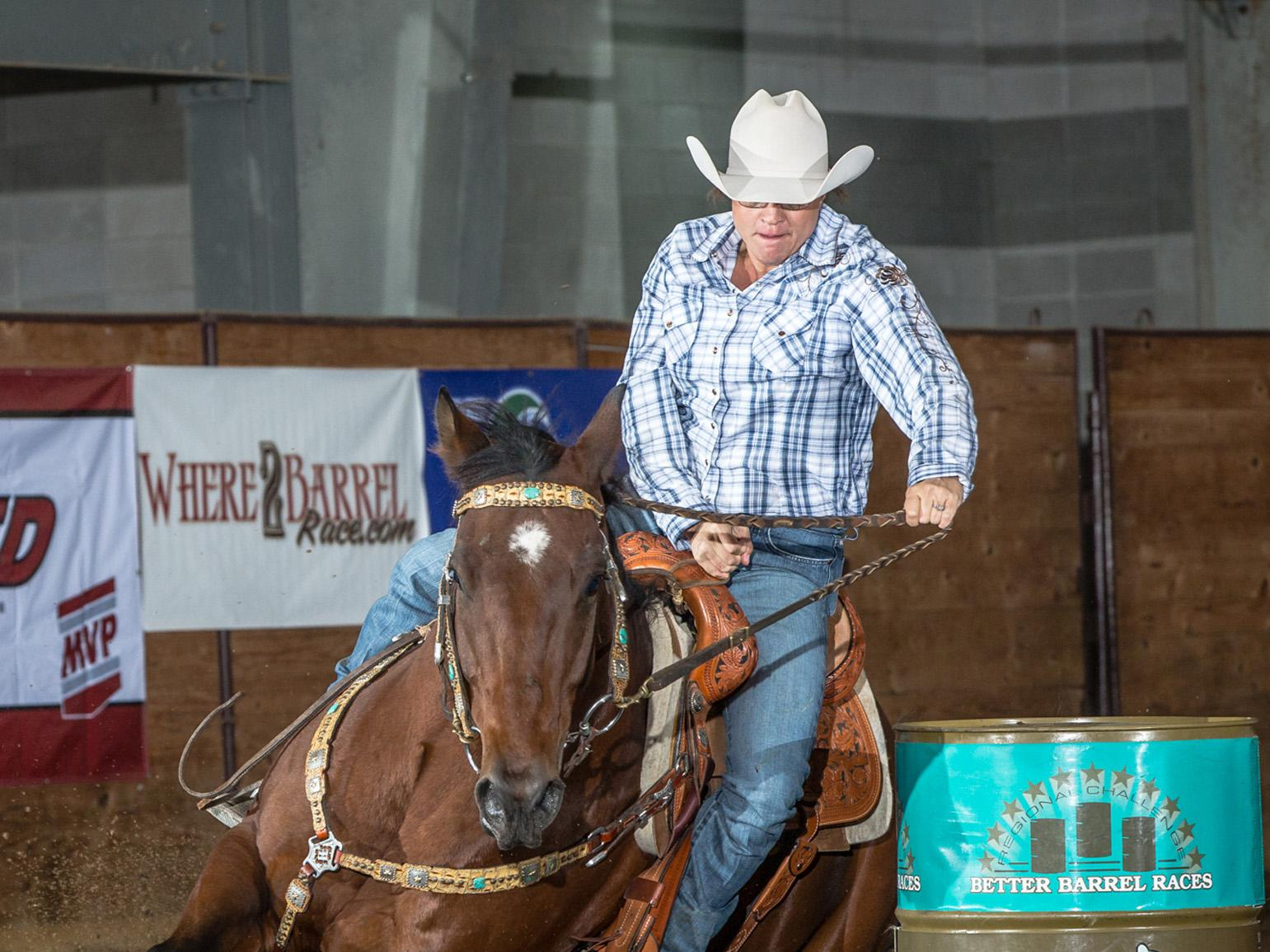 Barrel racers, such as this participant in the 2013 Horse Poor event at the Mississippi Horse Park, can improve their skills in a clinic at Mississippi State University on May 27, 2017. (Submitted Photo)