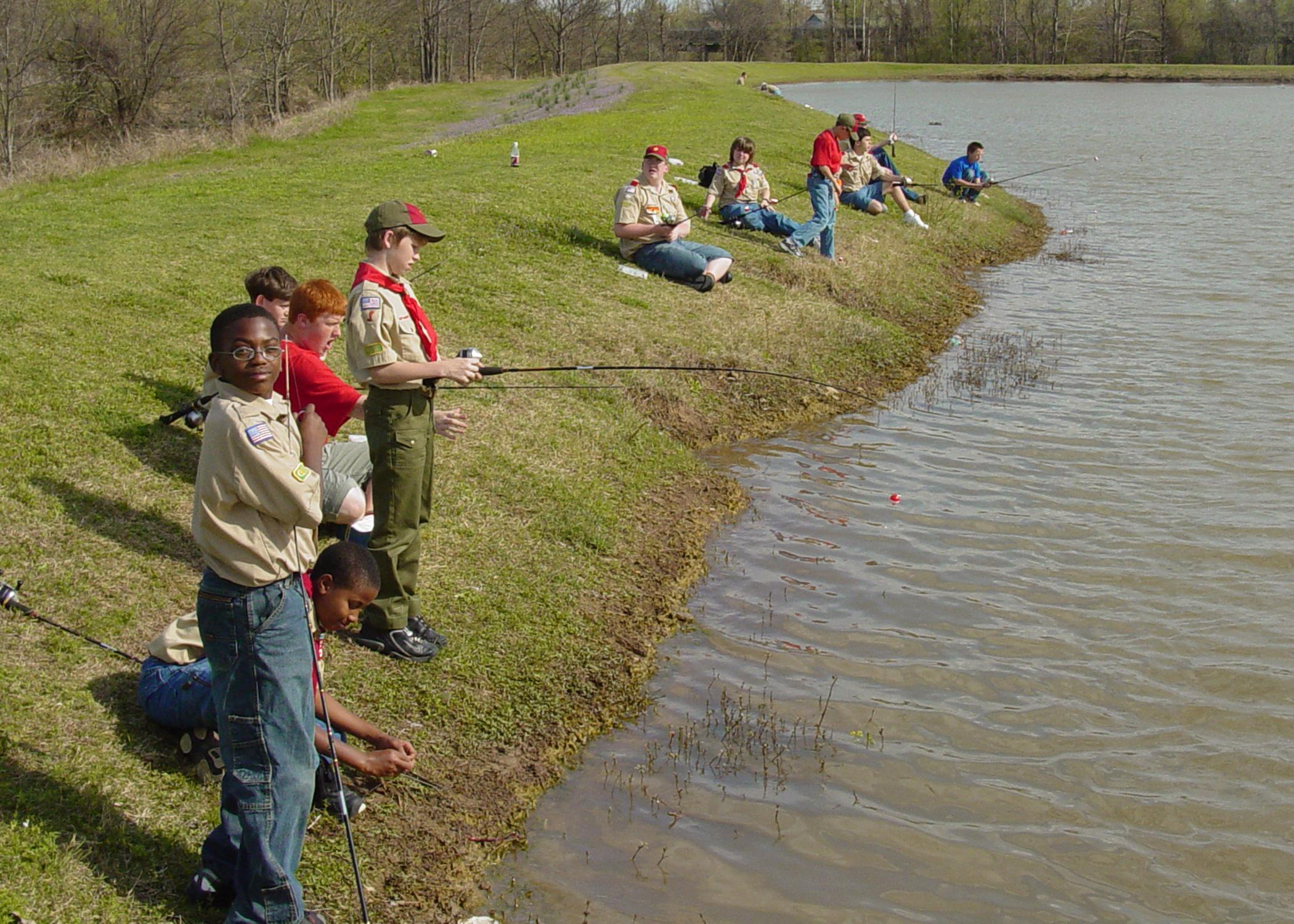 Before fertilizing a pond, be sure there will enough fishing to take care of the increased fish population. (Photo by MSU Extension/Wes Neal)