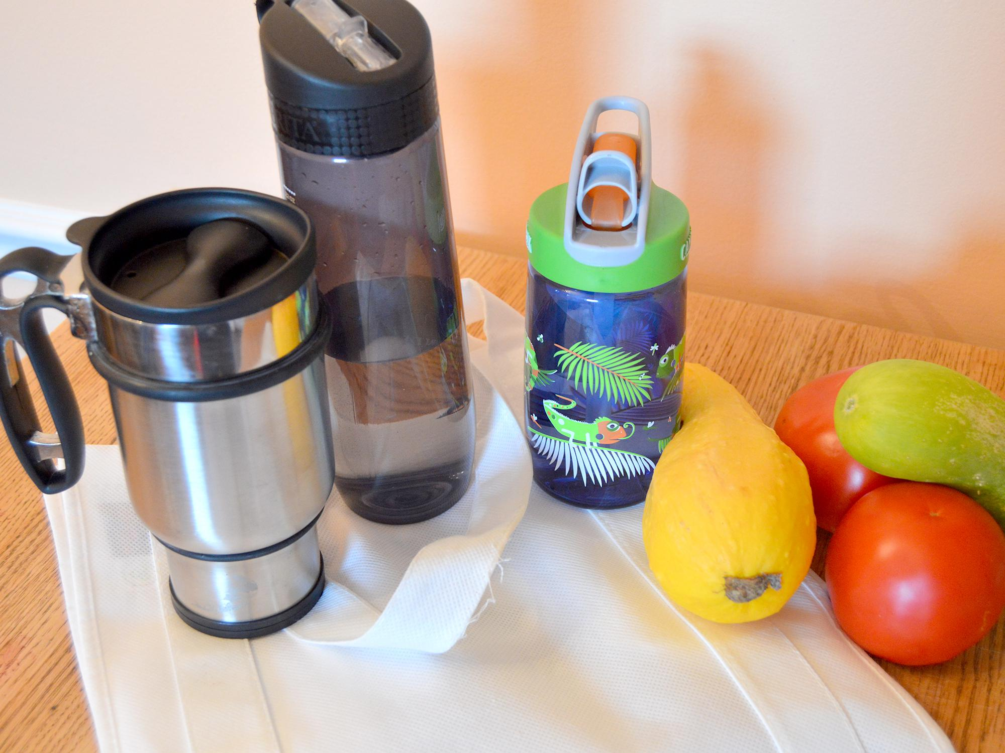 """Using reusable products and eating unprocessed foods are good for the environment and simple steps along the path in the """"going green"""" journey. (Photo by MSU Extension Service/Beth Baker)"""