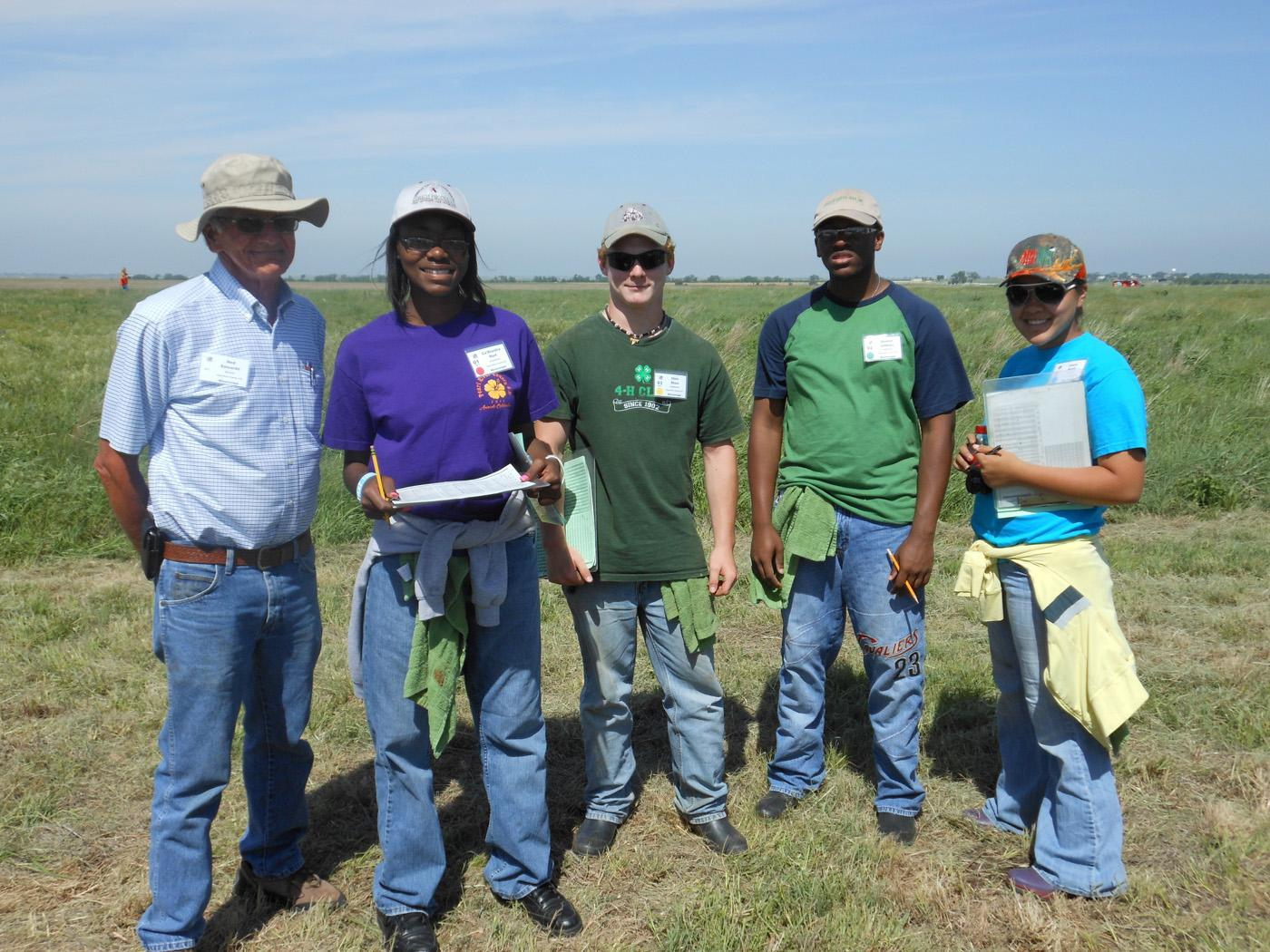 The state champion Pearl River County 4-H land judging team took sixth place in homesite evaluation and fifteenth in land judging at the National Land and Range Judging contest near Oklahoma City, Okla. From left: team coach Ned Edwards, Ca'Standra Hart, Chris Shaw, Donnie Lindsey and Laura Knoll. (Submitted Photo)