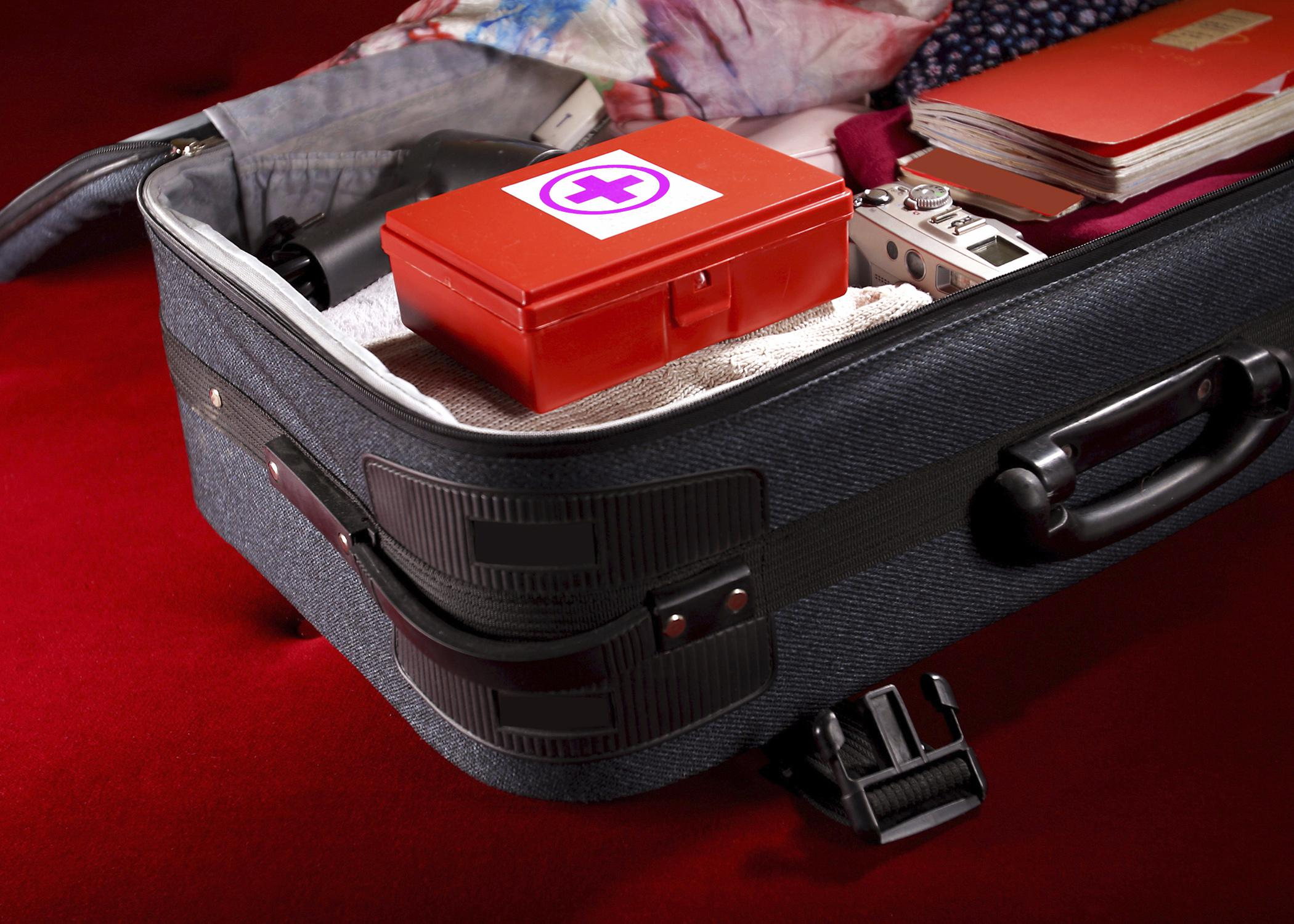 Travel first-aid kits can be small enough to fit in a suitcase. (Photo by iStock)