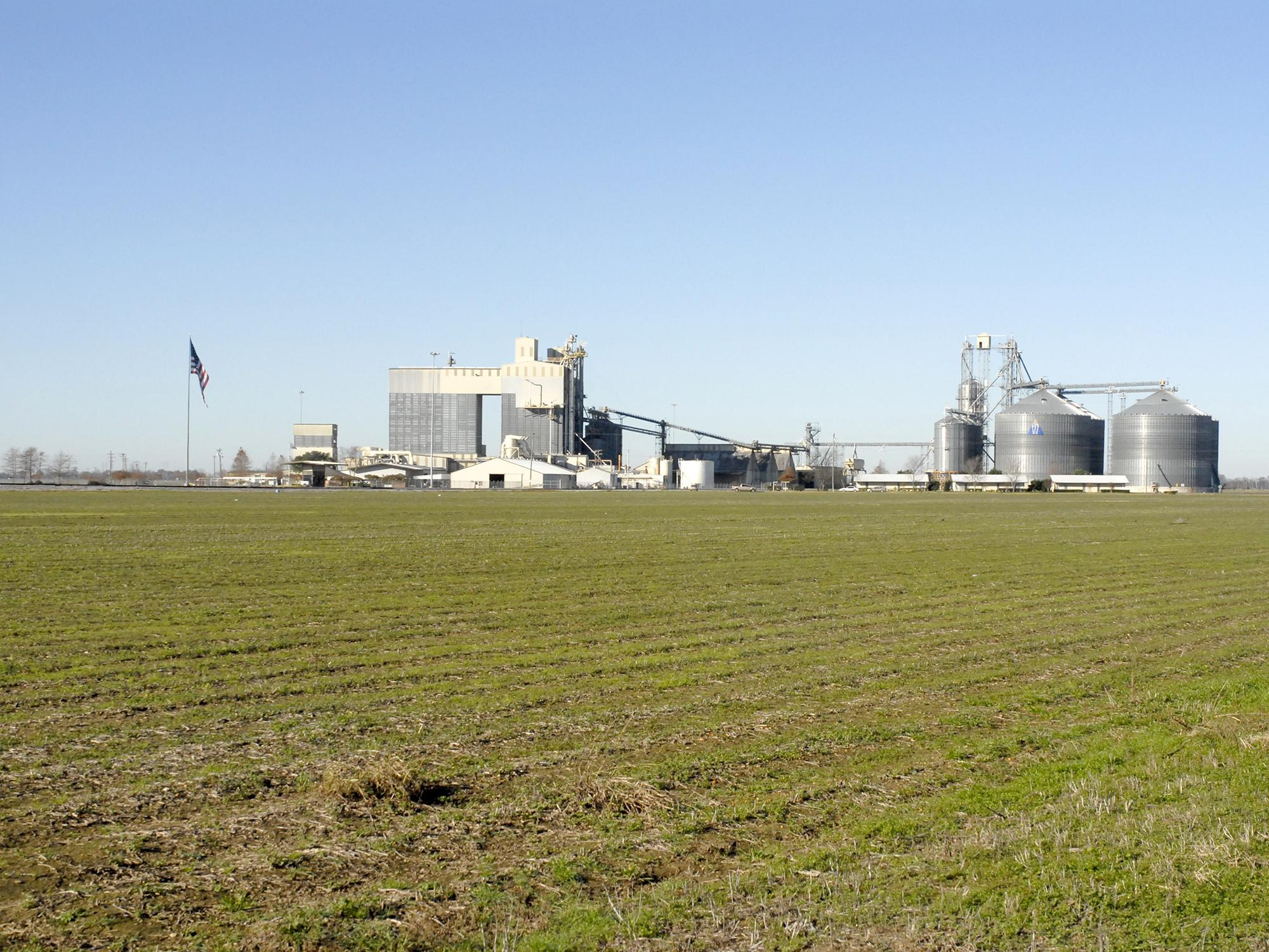 Storage facilities, such as this grain elevator in Sunflower County seen on Dec. 15, 2015, are busy as Mississippi's 2015 harvest is complete. Agriculture brought an estimated value of $7.4 billion to the state. (Photo by MSU Extension Service/Bonnie Coblentz)