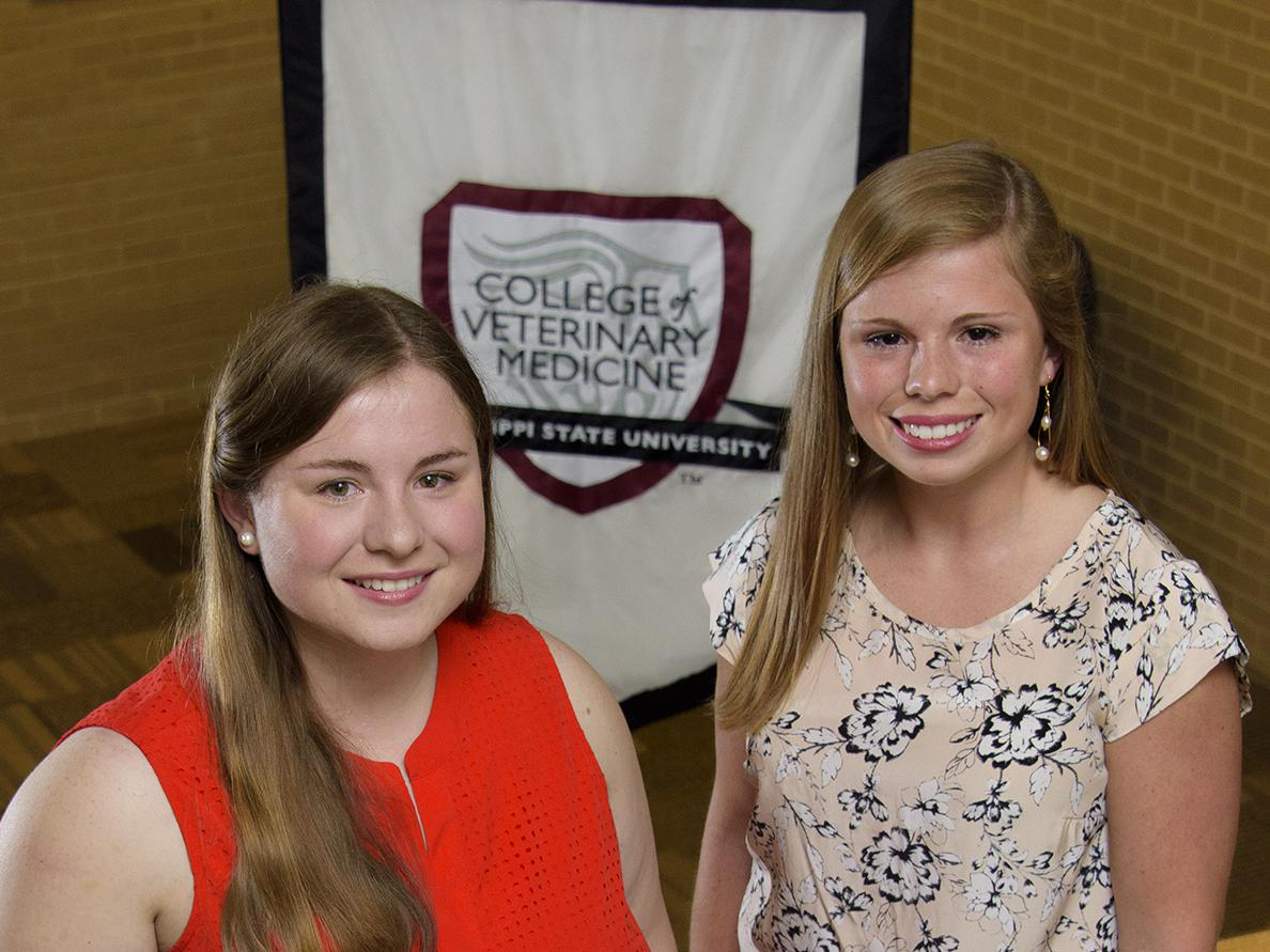 Participation in 4-H led sisters Jessica and Rachel Wilson to an interest in pursuing veterinary degrees at the Mississippi State University College of Veterinary Medicine. (Photo by MSU Extension Service/Kevin Hudson)