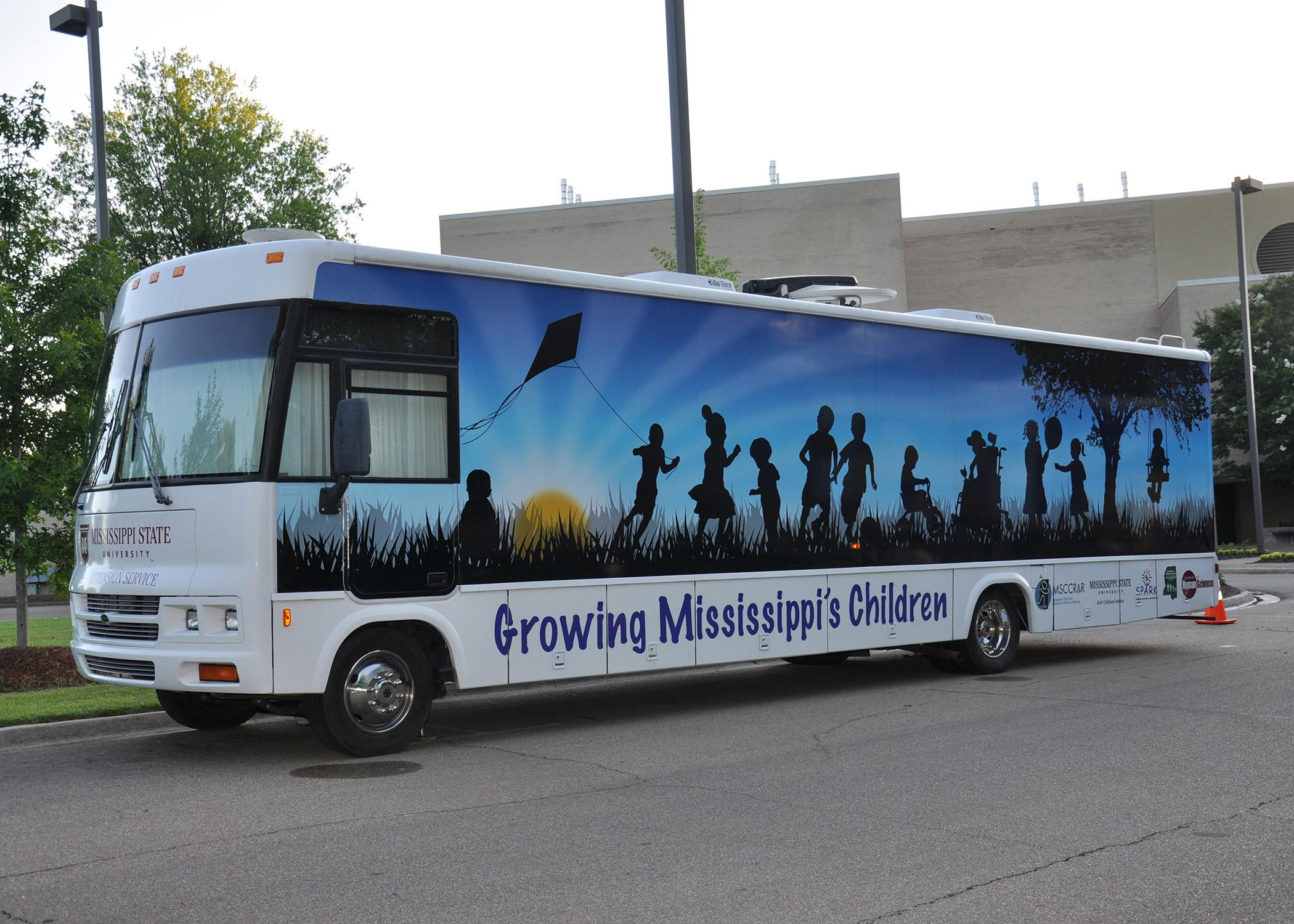 The Mississippi Child Care Resource and Referral Network mobile resource library will visit seven cities April 7-11, 2014, to celebrate the Week of the Young Child. (Submitted photo)