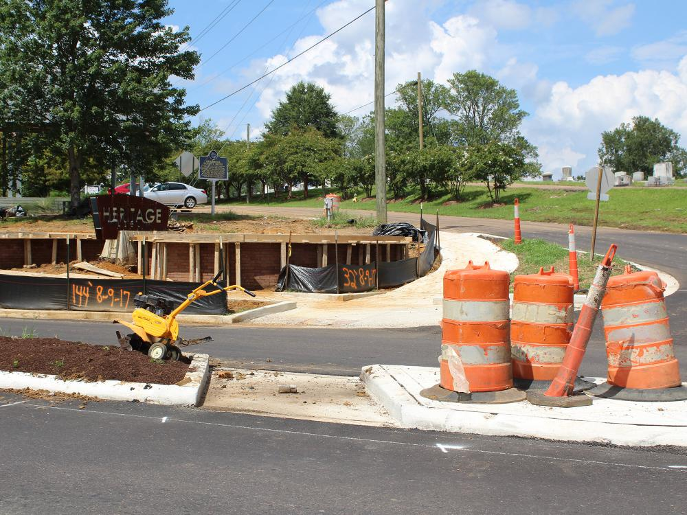 In order to make Starkville a more walkable community, bike lanes and sidewalk additions were constructed downtown on August 15, 2017. (Photo by MSU Extension Service/Jessica Smith)