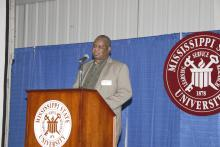 William Oliver, producer chair for the grain crops group, presented research and education needs to MSU personnel. A primary interest of the group is to learn more about controlling fire ants.