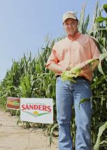 Mississippi State University senior James Locke of Greenwood works full-time as a summer intern with Jimmy Sanders, Inc., and maintains Locke Farms, an 18-acre farm where he grows fruits, vegetables and field corn for sale locally. (Photo by MSU Ag Communications/Keri Collins Lewis)