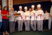 Andrew Simons, Jessica Wasmer, Shelby Harris and Brianna Allen, members of the St. Martin High School 4-H Club, won second place in the 2012 Great American Seafood Cook Off Aug. 12 in New Orleans with their Gulf Coast Bouillabaisse recipe. (Submitted Photo)