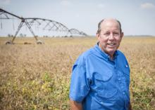 Abbott Myers starts working on his 7,138 acre farm at sunrise each day and often works after sunset. He was named Mississippi's winner of the 2013 Swisher Sweets/Sunbelt Expo Southeastern Farmer of the Year award. (Photo by MSU Ag Communications/Scott Corey)