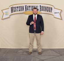 Mark Hall of Pontotoc 4-H placed seventh nationally in public speaking about horses at the recent Western National 4-H Roundup in Denver. (Submitted photo)