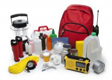 Emergency supply kits include water, food and medical supplies. Preparing kits ahead of time is beneficial in case of a hurricane or other disaster. (Photo by iStock)
