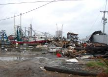 Hurricanes Katrina and Rita caused more than $35 million in damages to the state's commercial fishing fleet. The state's 69 seafood-processing plants, 141 seafood dealers, and five land-based support facilities saw more than $100 million in damages. (Photo by MSU Ag Communications/Ben Posadas)