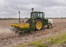 Poor weather conditions often stretch out Mississippi's row crop planting season as overly wet or cool fields keep planters in the barn. (File Photo by MSU Ag Communications/Scott Corey)